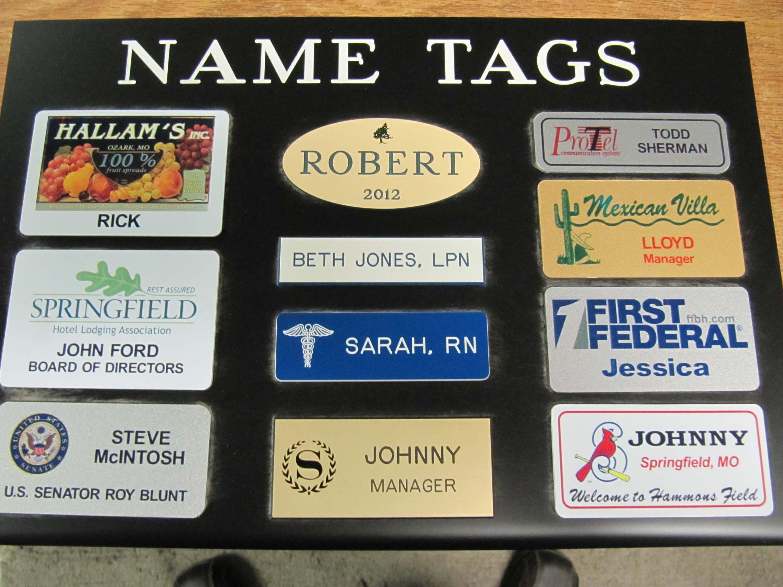 misc name tags